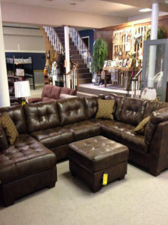 Lovely Leather Sectional